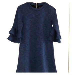 Kidpik Marled Bell Sleeve Dress - XL (14